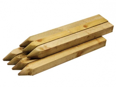 47x50mm W Wood Trtd Pointed Peg X600mm Thistle Timber